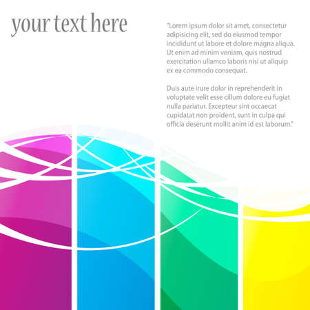 Abstract background with colorful design for text project used