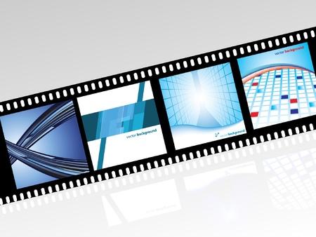 movie screen: Film Strip