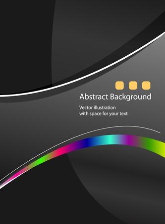 Elegant dark background vector for poster or card Stock Vector - 12049646