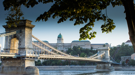 Chain Bridge, Budapest, Hungary photo