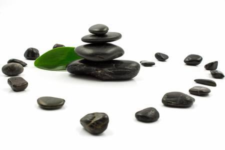Stones isolated on white