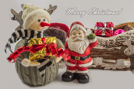 Santa Claus isolated on white, Happy Christmas