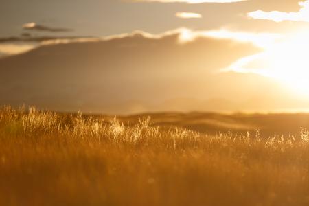 ドンパの砂漠の夕暮れ