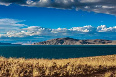 ラアンクー湖の風景ビュー 写真素材