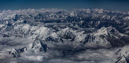 Aerial view of the Himalaya mountains