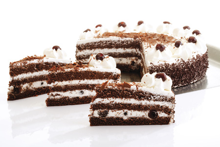 layer cake: Black Forest Cake Stock Photo