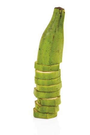Sliced banana, close-up photo
