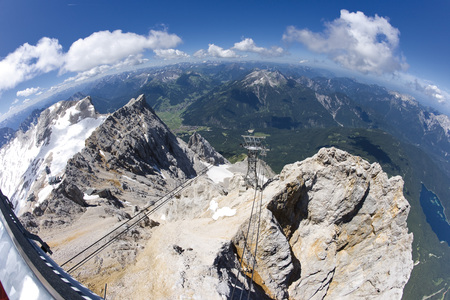 zugspitze mountain: Germany, Bavaria, Zugspitze Mountain and Valley, elevated view