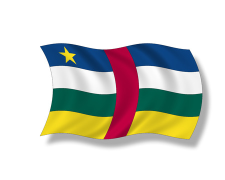 central african republic: Illustration, Flag of Central African Republic