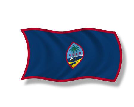 guam: Illustration, Flag of Guam Stock Photo