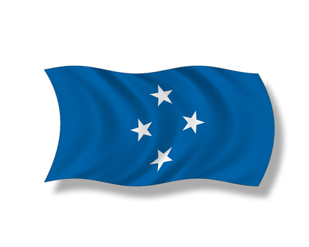 federated: Illustration, Flag of the Federated States of Micronesia