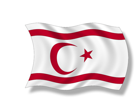 insular: Illustration, Flag of Republic of Northern Cyprus Stock Photo