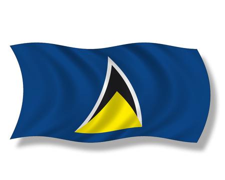 insular: Illustration, Flag of St. Lucia