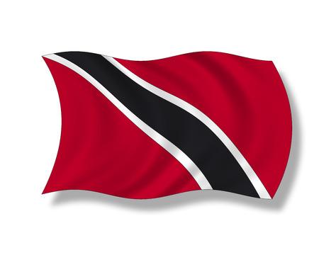 trinidad and tobago: Illustration, Flag of Trinidad and Tobago Stock Photo