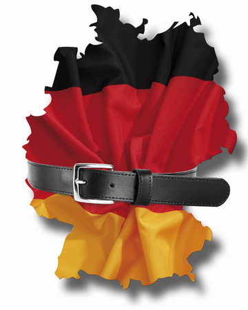 German flag with tight belt photo