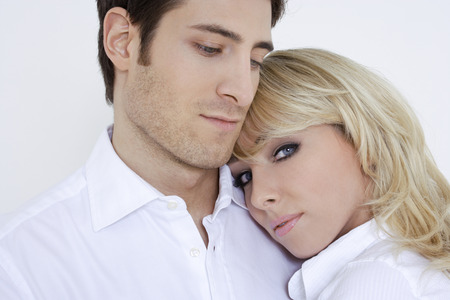 Young couple, close up
