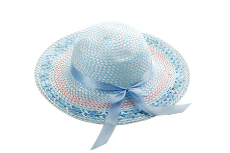 girlish: Light blue girlish summer hat