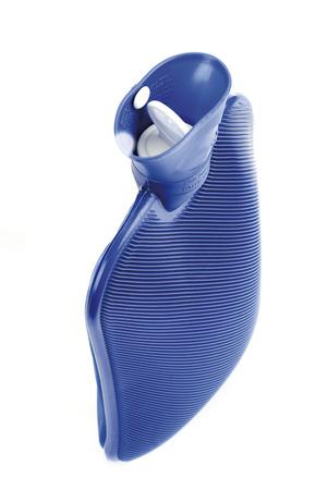wärmflasche: Blau Wärmflasche, close-up