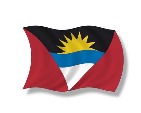 antigua and barbuda: Illustration, Flag of Antigua and Barbuda Stock Photo