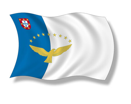 azores: Illustration, Flag of the Azores