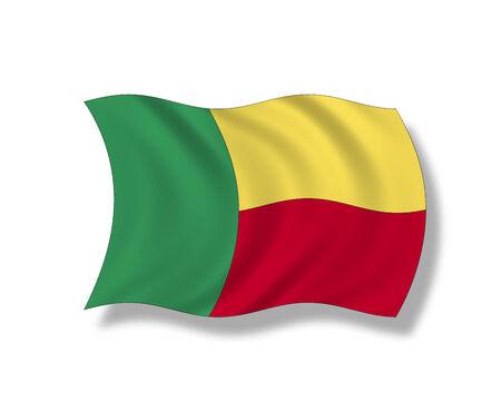 Illustration, Flag of Benin Stock Photo