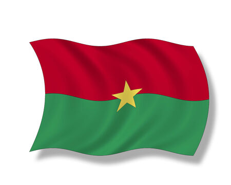 burkina faso: Illustration, Flag of Burkina Faso