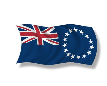 insular: Illustration, Flag of Cook Islands. Stock Photo