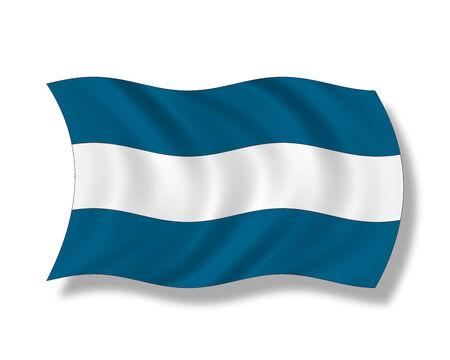 bandera de el salvador: Ilustración, bandera de El Salvador