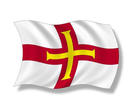 guernsey: Illustration, Flag of Guernsey