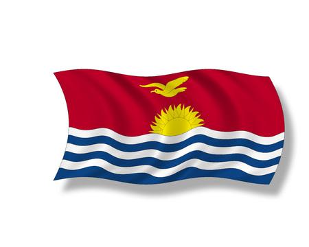 kiribati: Illustration, Flag of Kiribati Stock Photo
