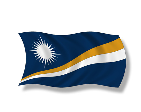 insular: Illustration, Flag of the Marshall Islands