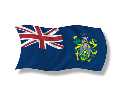 pitcairn: Illustration, Flag of  the Pitcairn Islands Stock Photo