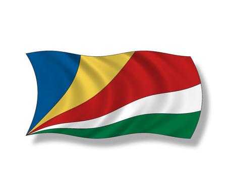 insular: Illustration, Flag of Seychelles