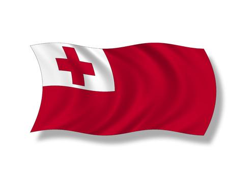 tonga: Illustration, Flag of Tonga Stock Photo