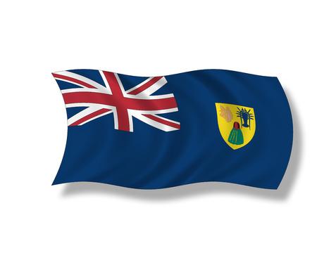 turks: Ilustraci�n, bandera de las Islas Turcas y Caicos