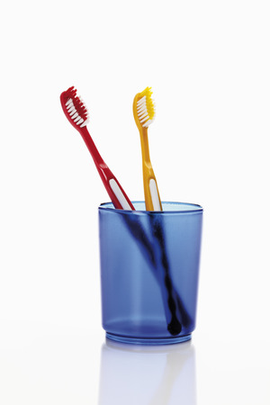 Close up of toothbrush in toothbrush holder photo