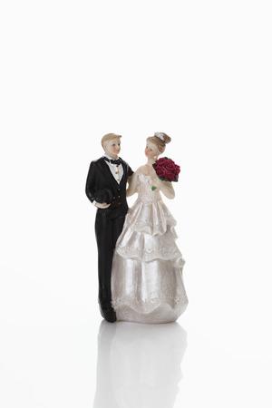 bridal couple: Bridal couple figurine Stock Photo