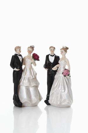 bridal couple: Bridal couple figurines Stock Photo