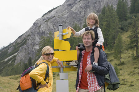 Austria, Salzburger Land, Family hiking photo
