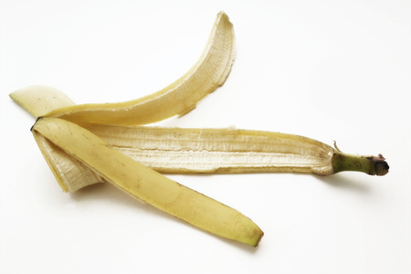 banana skin: Banana skin Stock Photo