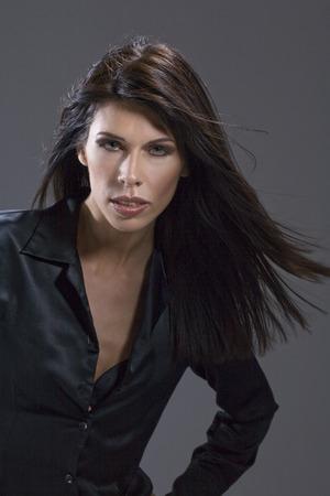 Dark-haired woman, portrait