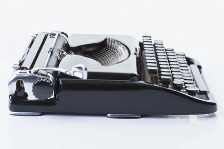 Old typewriter, close-up photo