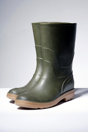 Rubber boots, close-up