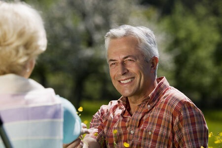baden wurttemberg: Germany baden wurttemberg tubingen senior couple man smiling at woman