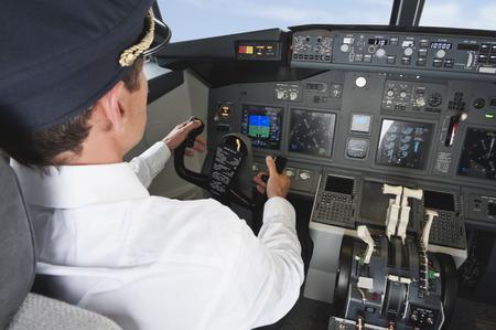 panel de control: Avión de conducción del piloto en la cabina