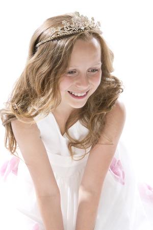 twee: Girl dressed up as little princess