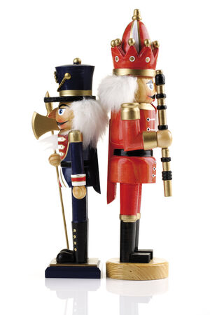 Two nutcrackers back-to-back photo
