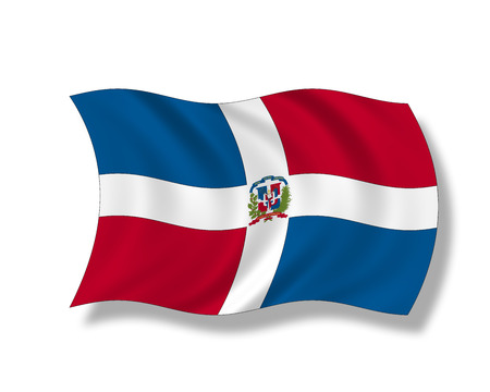 dominican republic: Illustration, Flag of Dominican Republic Stock Photo
