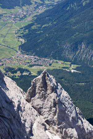 zugspitze mountain: Germany, View of Ehrwald from Zugspitze mountain