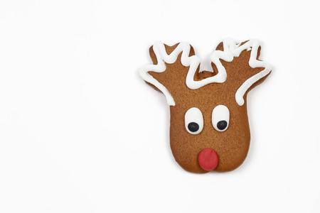 tasteful: Gingerbread reindeer on white background
